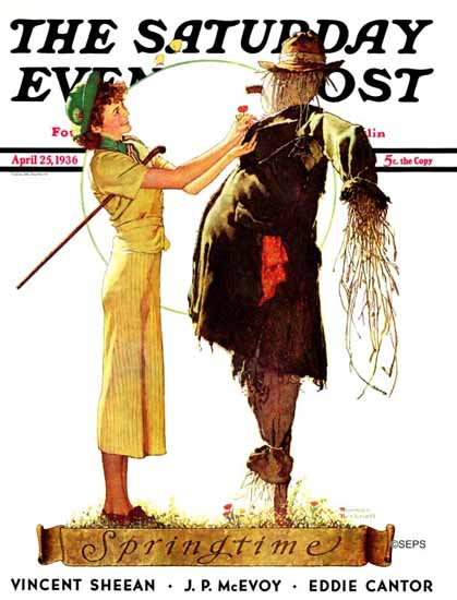 Norman Rockwell Saturday Evening Post Springtime 1936_04_25   The Saturday Evening Post Graphic Art Covers 1931-1969