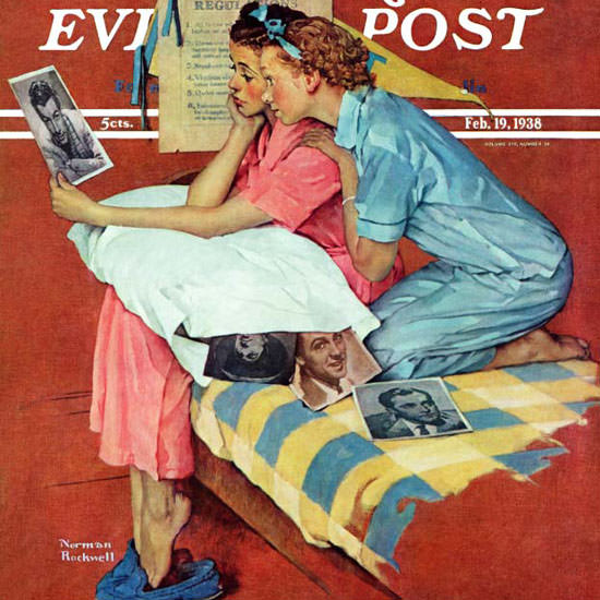 Norman Rockwell Saturday Evening Post Star 1938_02_19 Copyright crop | Best of Vintage Cover Art 1900-1970