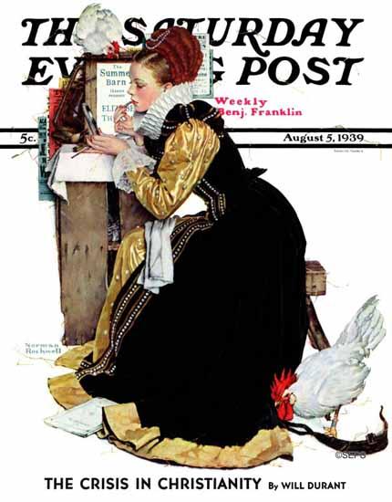 Norman Rockwell Saturday Evening Post Summer Stock 1939_08_05 | The Saturday Evening Post Graphic Art Covers 1931-1969