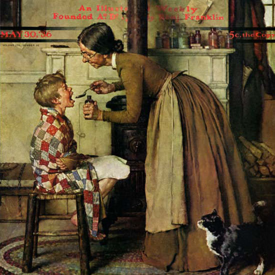 Norman Rockwell Saturday Evening Post Take 1936_05_30 Copyright crop | Best of Vintage Cover Art 1900-1970