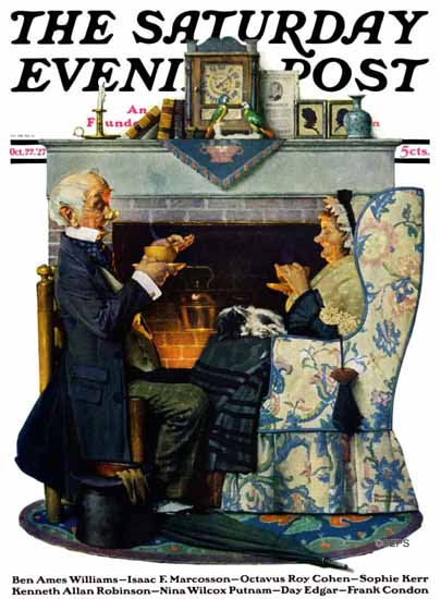 Norman Rockwell Saturday Evening Post Tea Time 1927_10_22 | The Saturday Evening Post Graphic Art Covers 1892-1930