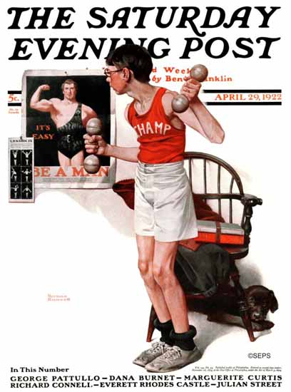 Norman Rockwell Saturday Evening Post The Champ 1922_04_29 | 400 Norman Rockwell Magazine Covers 1913-1963