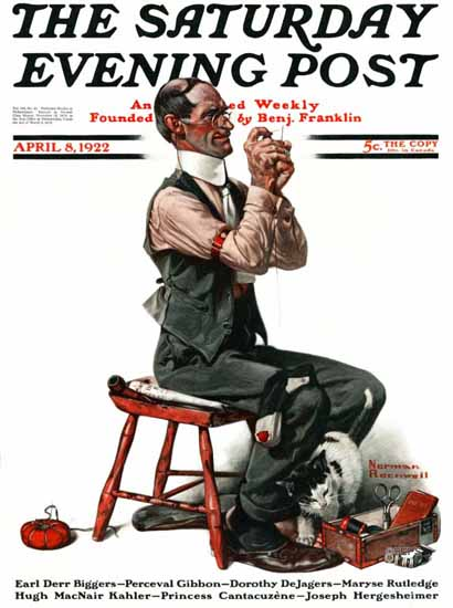 Norman Rockwell Saturday Evening Post The Eye of a Needle 1922_04_08 | 400 Norman Rockwell Magazine Covers 1913-1963