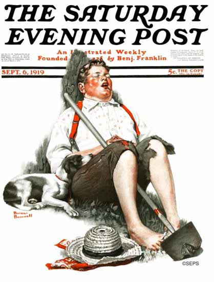 Norman Rockwell Saturday Evening Post The Gardener 1919_09_06 | The Saturday Evening Post Graphic Art Covers 1892-1930