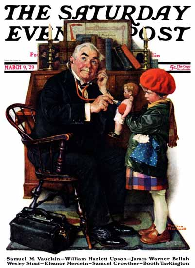 Norman Rockwell Saturday Evening Post The Good Doctor 1929_03_09 | 400 Norman Rockwell Magazine Covers 1913-1963