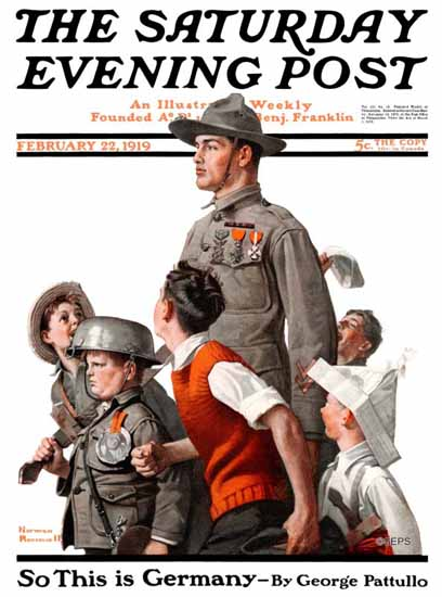 Norman Rockwell Saturday Evening Post The Ideal 1919_02_22 | 400 Norman Rockwell Magazine Covers 1913-1963