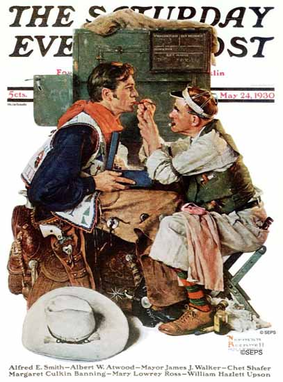 Norman Rockwell Saturday Evening Post The Makeup Artist 1930_05_24   400 Norman Rockwell Magazine Covers 1913-1963