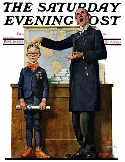 Norman Rockwell Saturday Evening Post The Model Pupil 1926_06_26 | 400 Norman Rockwell Magazine Covers 1913-1963