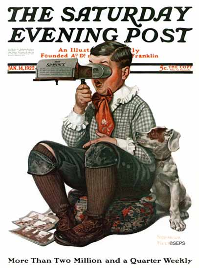 Norman Rockwell Saturday Evening Post The Sphinx 1922_01_14 | The Saturday Evening Post Graphic Art Covers 1892-1930
