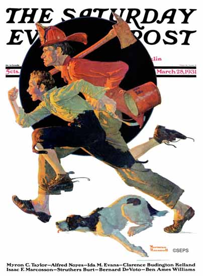 Norman Rockwell Saturday Evening Post To the Rescue 1931_03_28 | The Saturday Evening Post Graphic Art Covers 1931-1969