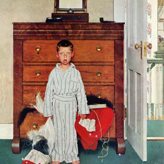 Norman Rockwell Saturday Evening Post Truth 1956_12_29 Copyright crop | Best of Vintage Cover Art 1900-1970