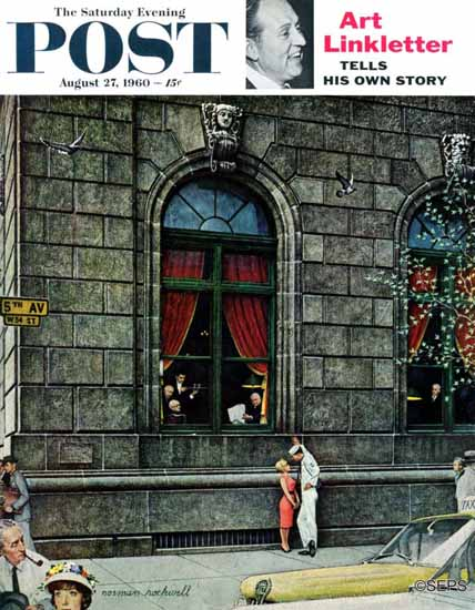 Norman Rockwell Saturday Evening Post University Club 1960_08_27 | 400 Norman Rockwell Magazine Covers 1913-1963
