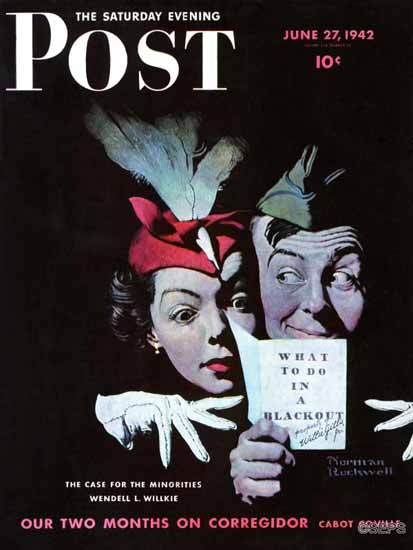Norman Rockwell Saturday Evening Post Willie Gillis Blackout 1942_06_27 | The Saturday Evening Post Graphic Art Covers 1931-1969