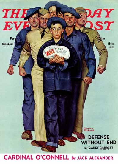 Norman Rockwell Saturday Evening Post Willie Gillis Package 1941_10_04 | 400 Norman Rockwell Magazine Covers 1913-1963