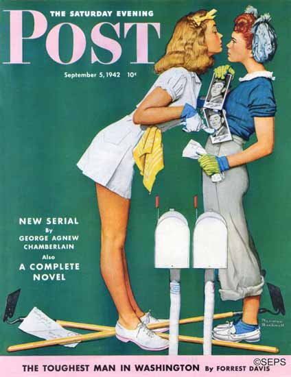 Norman Rockwell Saturday Evening Post Willie Gillis Troubles 1942_09_05 | The Saturday Evening Post Graphic Art Covers 1931-1969