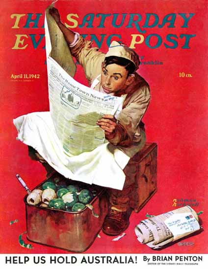 Norman Rockwell Saturday Evening Post Willie Gillis on KP 1942_04_11   The Saturday Evening Post Graphic Art Covers 1931-1969