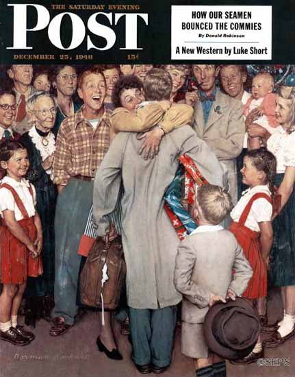 Norman Rockwell Saturday Evening Post Xmas Homecoming 1948_12_25 | The Saturday Evening Post Graphic Art Covers 1931-1969