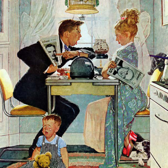 Norman Rockwell Saturday Evening Post vs 1948_10_30 Copyright crop | Best of Vintage Cover Art 1900-1970