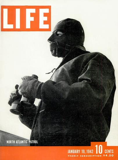 North Atlantic Patrol 19 Jan 1942 Copyright Life Magazine | Life Magazine BW Photo Covers 1936-1970