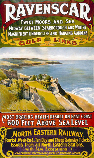 North Eastern Railway Ravenschar Scarborough | Vintage Travel Posters 1891-1970