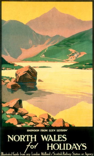 North Wales For Holidays Snowdon R Broders | Vintage Travel Posters 1891-1970
