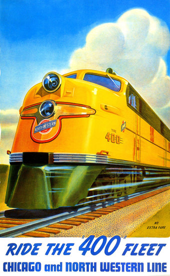 North Western Line 400 Fleet Chicago | Vintage Travel Posters 1891-1970