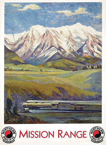 Northern Pacific Mission Range 1920s | Vintage Travel Posters 1891-1970
