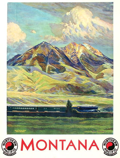 Northern Pacific Montana 1920s | Vintage Travel Posters 1891-1970