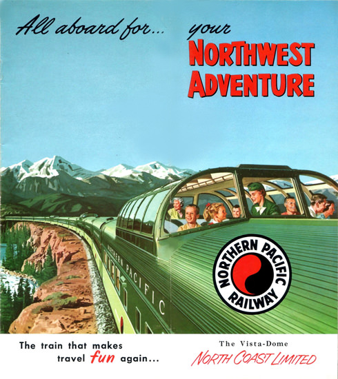 Northern Pacific Railway North Coast 1954 | Vintage Travel Posters 1891-1970