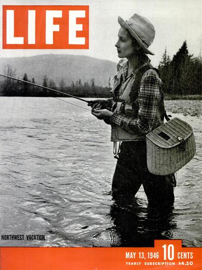 Northwest Vacation 13 May 1946 Copyright Life Magazine   Life Magazine BW Photo Covers 1936-1970