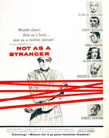 Not As A Stranger Movie 1955 Olivia De Havilland | Vintage Ad and Cover Art 1891-1970