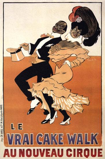 Nouveau Cirque La Vrai Cake Walk Cabaret | Sex Appeal Vintage Ads and Covers 1891-1970