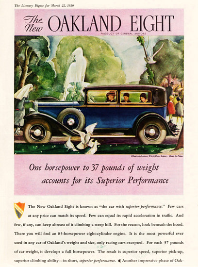 Oakland Eight 1930 Superior Performance | Vintage Cars 1891-1970