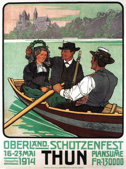 Oberlaender Schuetzenfest 1914 Thun Schweiz | Vintage Ad and Cover Art 1891-1970
