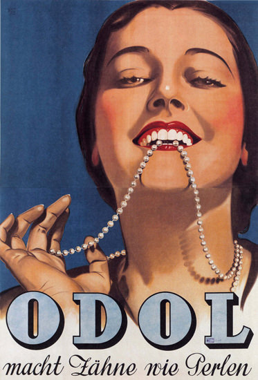 Odol macht Zaehne Wie Perlen Austria Pearls | Sex Appeal Vintage Ads and Covers 1891-1970