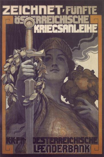 Oesterreichische Kriegsanleihe Laenderbank   Vintage War Propaganda Posters 1891-1970