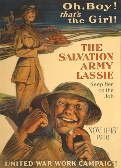 Oh Boy Thats The Girl The Salvation Army Lassie | Vintage War Propaganda Posters 1891-1970