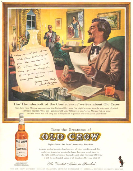 Old Crow Gen John Hunt Henry Fox 1961 | Vintage Ad and Cover Art 1891-1970