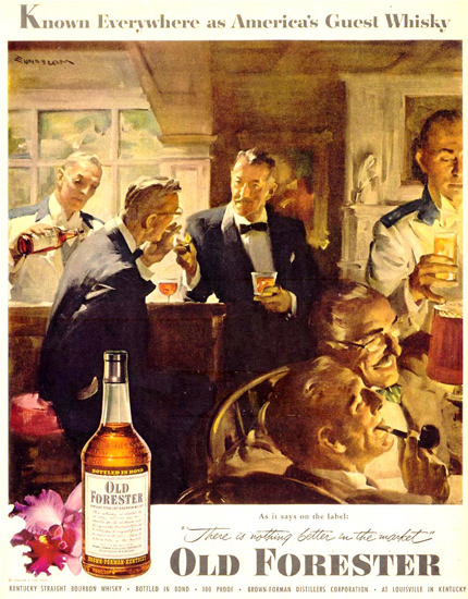 Old Forester Whisky Bar 1953 | Vintage Ad and Cover Art 1891-1970