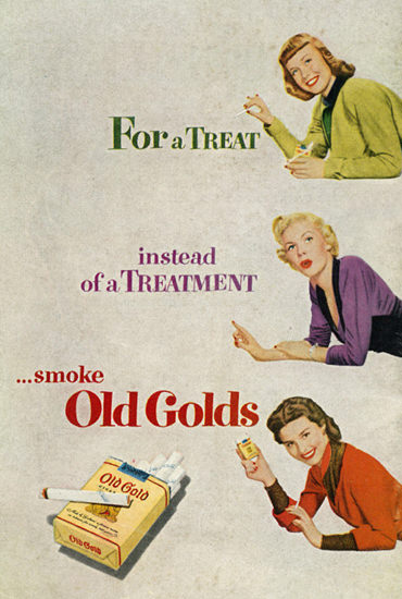 Old Gold Cigarettes For A Treat | Vintage Ad and Cover Art 1891-1970