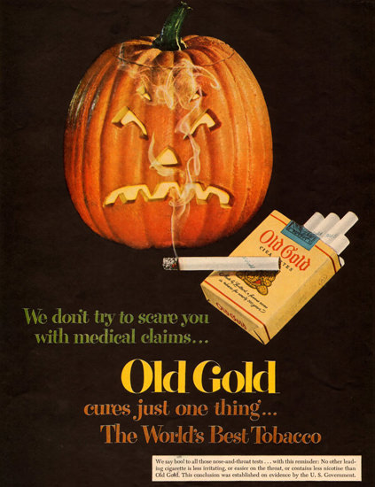 Old Gold Cigarettes Halloween 1951 | Vintage Ad and Cover Art 1891-1970