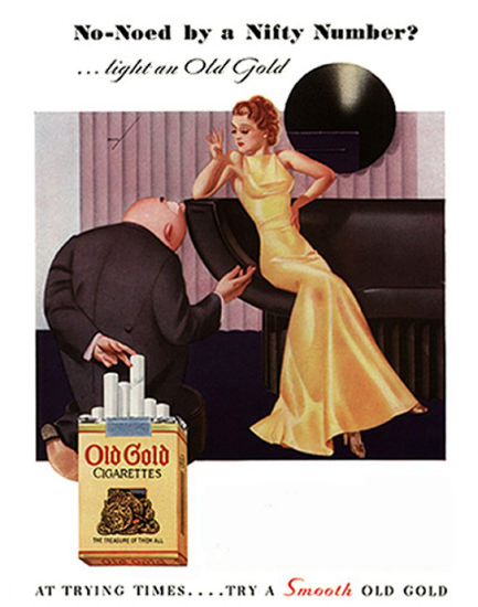 Old Gold No-Noed By Nifty Number George Petty | Sex Appeal Vintage Ads and Covers 1891-1970