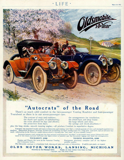 Oldsmobile 1912 Autocrats Of The Road Lansing | Vintage Cars 1891-1970
