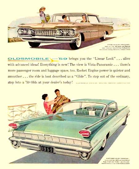 Oldsmobile 1959 Linear Look | Vintage Cars 1891-1970