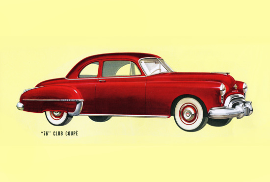 Oldsmobile 76 Club Coupe 1950 Red | Vintage Cars 1891-1970
