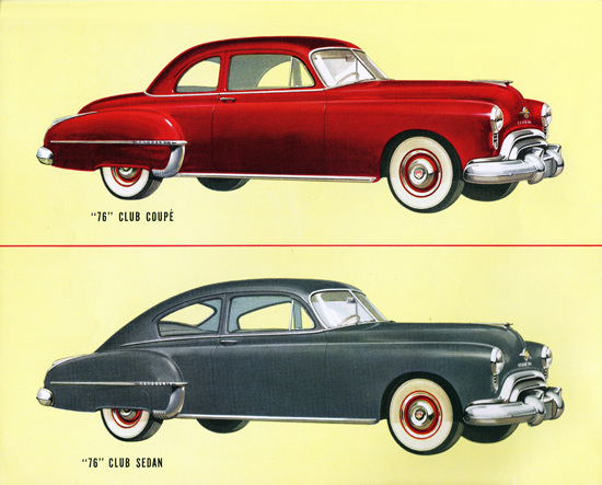 Oldsmobile 76 Club Coupe N Club Sedan 1950 | Vintage Cars 1891-1970