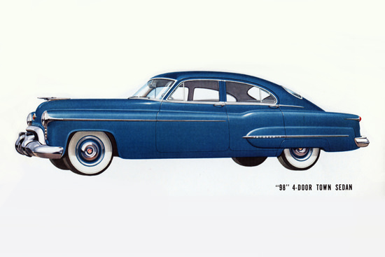 Oldsmobile 98 4-Door Town Sedan 1950 | Vintage Cars 1891-1970