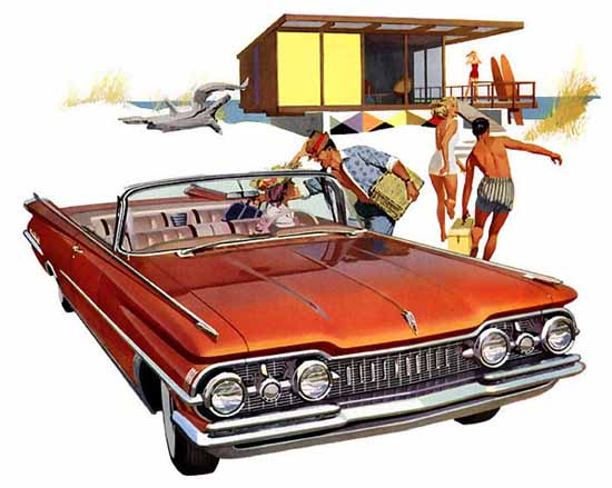 Oldsmobile 98 Convertible 1959 Ad   Vintage Cars 1891-1970