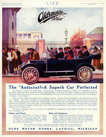 Oldsmobile Autocrat Touring 1912 Lansing | Vintage Cars 1891-1970