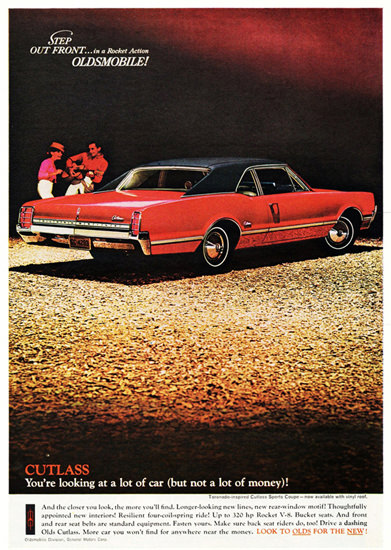 Oldsmobile Cutlass Coupe 1966 Step Out Front | Vintage Cars 1891-1970